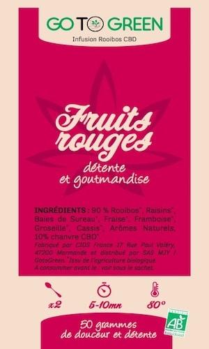 infusion bio cbd rooibos fruits rouges pas cher