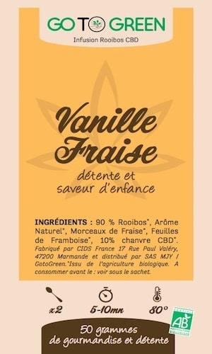 infusion bio cbd rooibos vanille fraise detente